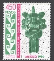 Mexico - Mexique 1989 Yvert 1304, Mask Of The Zapotec Bat God / Camazotz - MNH - Mexiko