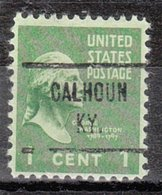 USA Precancel Vorausentwertung Preo, Locals Kentucky, Calhoun 729 - Vereinigte Staaten