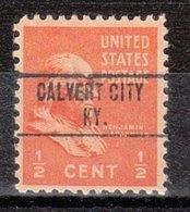 USA Precancel Vorausentwertung Preo, Locals Kentucky, Calvert City 748 - Vereinigte Staaten