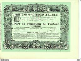 SOCIETE DES APPONTEMENTS DE PAUILLAC 1891 - Navy
