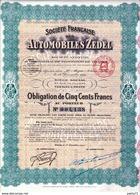 SOCIETE FRANCAISE DES AUTOMOBILES ZEDEL 1921 - Automobile