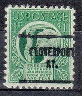 USA Precancel Vorausentwertung Preo, Locals Kentucky, Cloverport 704 - Vereinigte Staaten