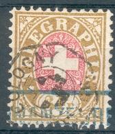 Schweiz Telegrafenmarke Mi.-Nr.5 O (MICHEL EURO 25,00) Pracht - Telegrafo
