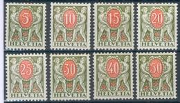 Schweiz Porto Mi.-Nr.42/49* (MICHEL EURO 28,00) Feinst - Strafportzegels