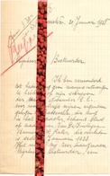 Brief Lettre - Richard De Rouck - Bassevelde - Naar Kadaster 1927 + Brief Met Antwoord - Vieux Papiers