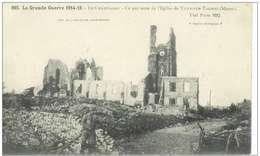 Cpa 51 Ville Sur Tourbe , Ww1 , Ruines De L'église , Voyagée 1916 * Secteur 170 - Ville-sur-Tourbe