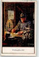 52132905 - Weihnachten Soldat Brief Pfeife Portraet Bismarck - Weihnachten Im Felde - Sign. Kuderna - Weltkrieg 1914-18