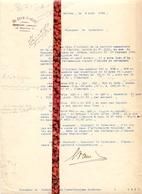 Brief Lettre - Ch.Cram - D'Hondt Bellem  - Naar Kadaster 1924 + Brief Met Antwoord - Vieux Papiers
