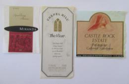 Australie - Lot De 3 Etiquettes De Vin Australien - Miranda, Chapel Hill, Castel Rock Estate - Colecciones & Series