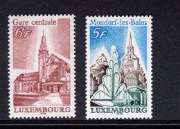 820224436 1979 SCOTT 622 623 POSTFRIS MINT  NEVER HINGED EINWANDFREI (XX)  LUXEMBOURG CENTRAL STATION - ST MICHAELS CHUR - Luxembourg