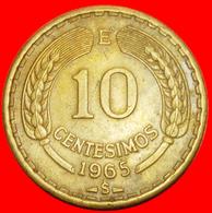 + CONDOR (1960-1970): CHILE ★ 10 CENTESIMOS 1965! LOW START ★ NO RESERVE! - Chili