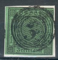 Baden Briefstück Mi.-Nr.6o Mit Nr.-Stempel 63 Hüfingen - Pracht - Baden