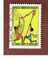 MADAGASCAR -  SG 405  -   1978 YOUTH, REVOLUTION PILLAR -  USED° - Madagascar (1960-...)