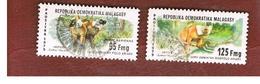 MADAGASCAR -  SG 410.413  -   1979  ANIMALS: BLACK LEMUR -  USED° - Madagascar (1960-...)
