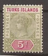 TURKS ISLAND - N° 34 NEUF X MVLH - Turcas Y Caicos