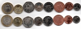 Jersey - Set 8 Coins 1 2 5 10 20 50 Pence 1 2 Pounds 1998 - 2016 AUNC Lemberg-Zp - Jersey