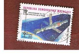 MADAGASCAR -  SG 460 -   1982 SPACE STATION SOYUZ-SALYUT  -  USED° - Madagascar (1960-...)