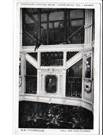 """Compagnie Maritime Belge S.S Thysville , Image Du Hall Des 1-ères Classes.  Obliteré """"Pacquebot Thysville"""" - Congo Belge - Autres"""