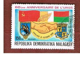 MADAGASCAR -  SG 482 -   1982  60^ ANNIVERSARY OF URSS   -  USED° - Madagascar (1960-...)