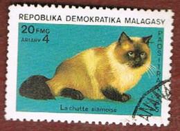 MADAGASCAR -  SG 540.542   -   1985 CATS & DOGS -  USED° - Madagascar (1960-...)