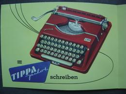 Ancien Dépliant  Machine à Ecrire - Matériel De Bureau - TIPPA PILOT - Werbung