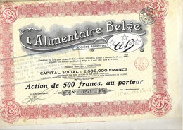 L'Aliimentaire Belge - Oostende - Actions & Titres