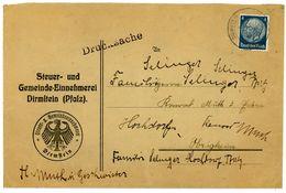 Nr. 483 EF Drucksache Der Steuer- Und Gemeinde Einnehmerei Dirmstein (Pfalz) - Briefe U. Dokumente