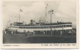 """Allemagne :  Nordseebad Cuxhaven. M.Schiff """"Jan Molfen """"an Der , Alten Liebe . - Allemagne"""