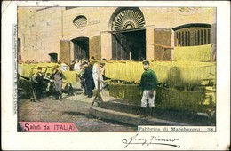 Neapel Napoli Fabbrica Di Maccheroni/Nudel Herstellung Trocknen 1898 - Italia