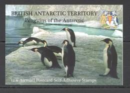 L1135 BRITISH ANTARCTIC TERRITORY PENGUINS #434-45 MICHEL 36 EURO BOOKLET MNH - Pinguine