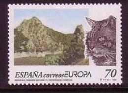 SPANIEN MI-NR. 3462 ** EUROPA 1999 - NATUR- Und NATIONALPARKS KATZE - Europa-CEPT