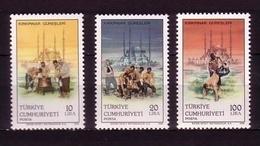 TÜRKEI MI-NR. 2751-2753 ** NATIONALE RINGWETTKÄMPFE - SELIM MOSCHEE - 1921-... República