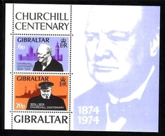GIBRALTAR BLOCK 1 ** SIR WINSTON SPENCER CHURCHILL 1974 - Gibraltar