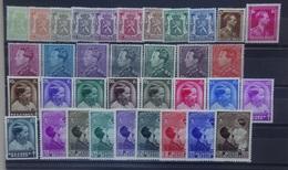 BELGIE   1935-37  Nr. 418 A - 426 / 427 / 428 / 429 - 435 / 438 - 445 / 447 - 454  Scharnier *  CW 82,50 - Belgique