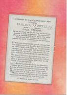 PAULINA PAUWELS -GEEL-LARUM - Décès