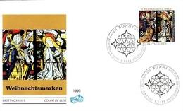 DEUTSCHLAND MI-NR. 1831-1832 FDC WEIHNACHTEN 1995 FENSTER DES AUGSBURGER DOM - Weihnachten
