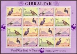 GIBRALTAR MI-NR. 619-622 ** KLEINBOGEN WWF HUHN STORCH GEIER KRÄHE - Gibraltar