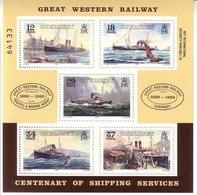GUERNSEY BLOCK 5 ** DAMPFSCHIFFE - GREAT WESTERN RAILWAY 1989 - Guernsey