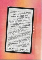 MARIA COOLS -GEEL-LARUM - Esquela