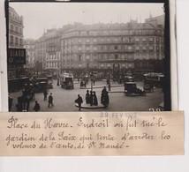 PLACE DU HAVRE TUE GARDIEN DE LA PAIX ARRETER VOLEURS L'AUTO ST MANDE  13*9CM Maurice-Louis BRANGER PARÍS (1874-1950) - Lieux