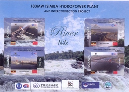 UGANDA 2019 New Stamps Minisheet Inauguration Isimba Hydro Plant  OUGANDA - Oeganda (1962-...)