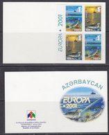 Europa Cept 2001 Azerbaijan  Booklet With 2x2v   ** Mnh (44260) - 2001