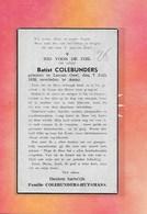 BATIST COLEBUNDERS -GEEL-AMAY - Décès