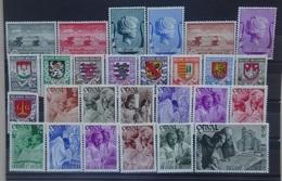 BELGIE   1940   Nr. 532-37 / 538-46 / 556 - 67  Scharnier *  CW 27,00 - Belgique
