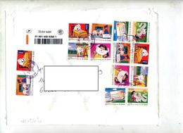 Devant De Pochette Suivi   Cachet La Poste Sur Lettre - Postmark Collection (Covers)