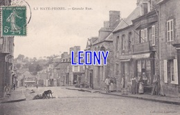 CPA De  LA HAYE PESNEL  (50) -  GRANDE RUE   - Collection LANDRIEVE - ANIMATIONS-1907 - CHIEN - France