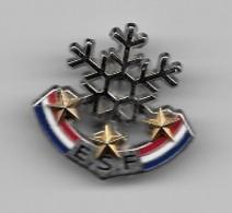 Pin's, Broche  Sport  SKI,  E.S.F  3  étoiles  Or  Verso  8  DECAT - Invierno
