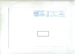 Lettre Flamme Ema Paris Comite Olympique France - Poststempel (Briefe)