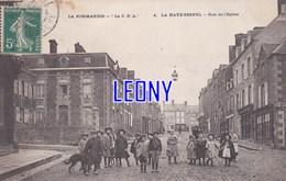 "CPA De  LA HAYE PESNEL  (50) - RUE De L' EGLISE N° 4 - ANIMATIONS CHIEN - La "" C.P.A. "" - France"