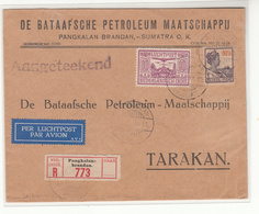 Netherlands East Indies / Internal Airmail / Oil / Sumatra / Borneo - Nederland